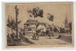 67 DAMBACH LA VILLE #15336 BAPTEME DES CLOCHES 9 AOUT 1925 PAR ILLUSTRATEUR AITLENG - Dambach-la-ville