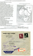 1955 RAMPENVLUCHT Lp R-enveloppe  Banque Belge D'Afrique Naar LULUABOURG Congo - DESASTRE AVION + Krantenartikel + Cache - Covers & Documents