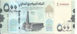 YEMEN 500 RIALS 2017 UNC P 36 C - Yemen