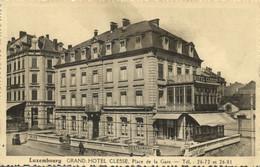 Luxemburg, LUXEMBOURG, Grand Hotel Clesse, Place De La Gare (1940s) Postcard - Luxembourg - Ville