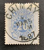 TX2 Gestempeld EC CHIMAY 1887 - Briefmarken