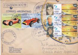 "ARGENTINA. ENVELOPPE. TIMBRES UNIS, ""AUTOMOVILISMO"" ""PERSONAS PERDIDAS"". CIRCULEE ANNEE 2011.- LILHU - Covers & Documents"