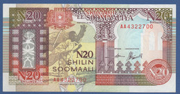 SOMALIA - P.R1 –  20 Shilin 1991  UNC    Prefix AA4322700 - Somalia