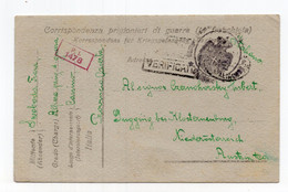 1919 WWI POW, ITALY, CASSINO TO AUSTRIA,MILITARY CARD - Militaire Post (PM)