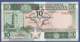 SOMALIA - P.32c – 10 SHILIN 1987  UNC    Block D021 - Somalia