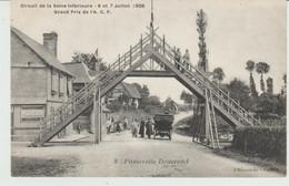 CPA CIRCUIT DE LA SEINE-INFERIEURE (76) 6 Et 7 JUILLET 1908 - GRAND PRIX DE L' A.C.F. - PASSERELLE DOUVREND - ANIMEE - Sonstige Gemeinden