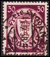 1935. DANZIG. 30 Pf. Staatswappen. Watermark Small Net.  (MICHEL 247) - JF417474 - Danzig