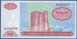 AZERBAIJAN - P.18b – 100  MANAT  Nd (1993)  UNC   Serie BA - Azerbaïjan