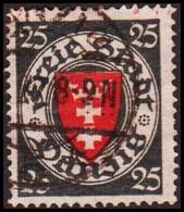 1924. DANZIG. 25 Pf. Staatswappen.  (MICHEL 197) - JF417550 - Danzig