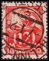 1922-28 WEAVER AND SMITH 12 Mk. Scarlet Perf 14½. (Michel 57) - JF417577 - Estonia