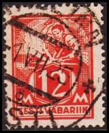 1922-28 WEAVER AND SMITH 12 Mk. Scarlet Perf 14½. (Michel 57) - JF417579 - Estonia
