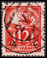 1922-28 WEAVER AND SMITH 12 Mk. Scarlet Perf 14½. (Michel 57) - JF417580 - Estonia