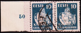 1933 SONG FESTIVAL 10 S. Blue Pair With Margin. (Michel 101) - JF417581 - Estonia