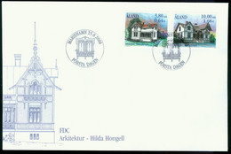 Fd Aland Islands FDC 2000 MiNr 179-180   48th Death Anniv Of Hilda Hongell (architect) - Aland