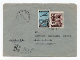 1950 YUGOSLAVIA, SERBIA, BELGRADE TO SWITZERLAND, REGISTERED COVER - Cartas