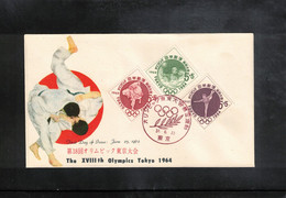 Japan 1962 Olympic Games Tokyo - Waterpolo FDC - Water Polo