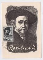 CARTE MAXIMUM CM Card USSR RUSSIA Art Painting Painter Rembrandt Holland - Cartoline Maximum