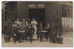 "CARTE PHOTO : CAFE - MAISON "" A. CHANTE CLAIR "" ? - BILLARD - LIQUEURS & VINS - RESTAURANT - CHAUFFEURS TAXI -z R/V Z- - Te Identificeren"