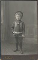 CABINET : Portrait Jeune Garçon à La Raquette De Tennis (jouet) Par Rembrandt à Bâle (Suisse) (Ca 1900) (BP) - Antiche (ante 1900)
