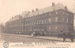 FLEURUS 1918 ECOLE MOYENNE DE L' ETAT  (Feldpost) - Fleurus
