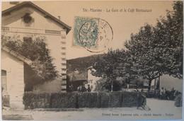Sainte-Maxime - La Gare Et Le Café Restaurant - Sainte-Maxime
