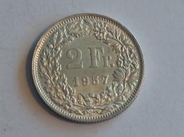 Suisse Switzerland 2 Francs Argent Silver 1957 Rappen - Switzerland