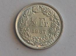 Suisse Switzerland 1/2 Franc Argent Silver 1957 Rappen - Switzerland