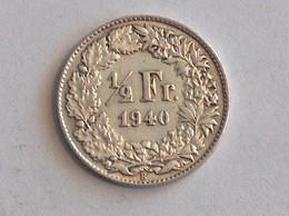 Suisse Switzerland 1/2 Franc Argent Silver 1940 Rappen - Switzerland