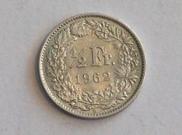 Suisse Switzerland 1/2 Franc Argent Silver 1962 Rappen - Switzerland