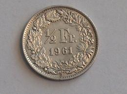 Suisse Switzerland 1/2 Franc Argent Silver 1961 Rappen - Switzerland