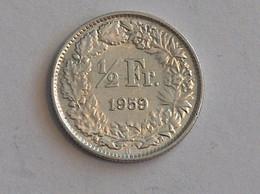 Suisse Switzerland 1/2 Franc Argent Silver 1959 Rappen - Switzerland