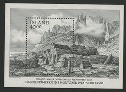 "1988 ISLANDE ICELAND COTE 6.5 € BLOC FEUILLET N° 9 Neuf ** (MNH). ""Ferme De NUPSSTADUR En 1836"" - Blocks & Kleinbögen"