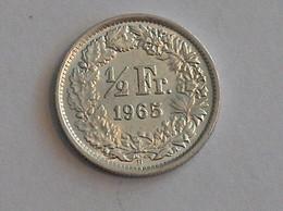 Suisse Switzerland 1/2 Franc Argent Silver 1965 Rappen - Switzerland