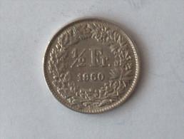 Suisse Switzerland 1/2 Franc Argent Silver 1960 - Switzerland