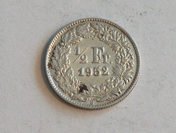 Suisse Switzerland 1/2 Franc Argent Silver 1952 Rappen - Switzerland