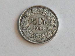 Suisse Switzerland 1/2 Franc Argent Silver 1944 Rappen - Switzerland