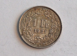 Suisse Switzerland 1 Franc Argent Silver 1921 Rappen - Switzerland