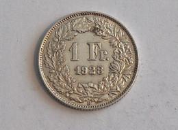 Suisse Switzerland 1 Franc Argent Silver 1928 Rappen - Switzerland