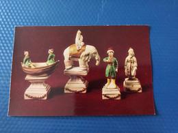 JEU - ECHECS - CHESS - ECHECS - Chessmen, Porcelain Chess Figures, Russ Museum - Old Postcard 1982 - Chess