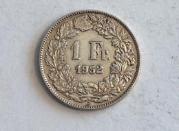 Suisse Switzerland 1 Franc Argent Silver 1952 Rappen - Switzerland