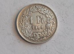 Suisse Switzerland 1 Franc Argent Silver 1944 Rappen - Switzerland