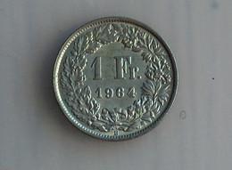 SUISSE 1 Franc 1964 - Silver, Argent - Switzerland