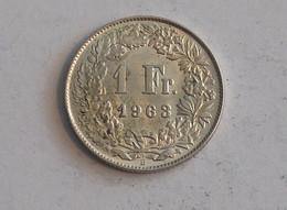 Suisse Switzerland 1 Franc Argent Silver 1963 Rappen - Switzerland