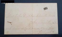 Brazil 1856 Fold Cover From Conceição Do Arroio Da Serra Osórioto Porto Portugal Correio Marítimo Sea Mail 160 Réis - Cartas