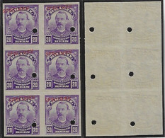 Brazil 1906 Stamp RHM-137 Benjamin Constant Specimen Hole And Overprint Ungummedmilitary Engineer Teacher Politician - Nuevos