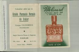 PARFUM ILES D'OR Molinard  Parfumeur à Grace Publicité  Calendrier 1953  Pharmacie De DAKAR  (AVRI 2021 ABL 070) - Small : 1941-60