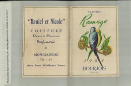 PARFUM RAMAGE BOURJOIS PARIS CALENDRIER 1964 Publicité  Parfumerie Coifure  MONTSAUCHE   (AVRI 2021 ABL 074) - Klein Formaat: 1961-70