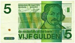 NETHERLANDS - 5 GULDEN - 28.03.1973 - Pick 95 - VONDEL - 5 Gulden