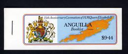 ANGUILLA - 1978 ROYAL CORONATION ANNIVERSARY BOOKLET (BACK COVER DESIGN - ISLAND IN THE SUN) SG SB2 FINE MNH ** - Anguilla (1968-...)