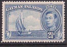 Cayman Islands 1938 - 48 KGV1 2 1/2d Bright Blue Umm SG 120 ( C1417 ) - Cayman Islands